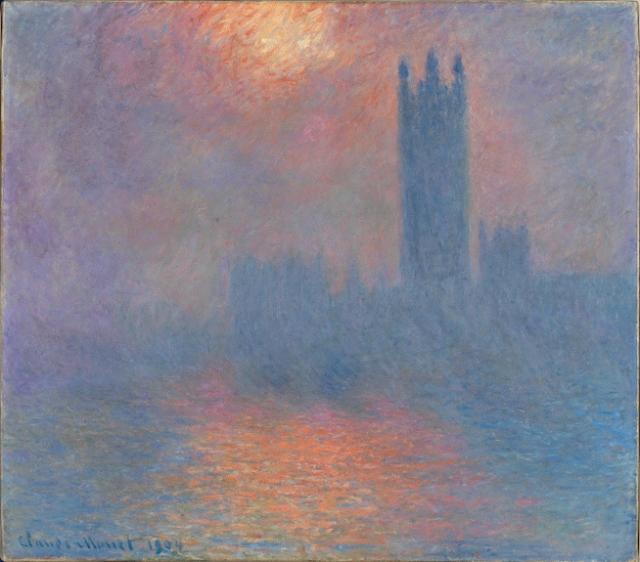 "Claude Monet, ""Sun Breaking Through the Fog"", 1904"